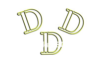 Guarantee Genuine 1.2mm dia.,vinyl wrapped wire D-letter shaped paper clips,Designer shaped paper clips+Free custom shapes