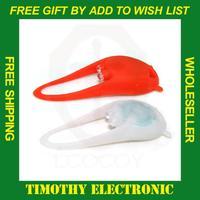 Free shipping New 2 LED mini Waterproof Silicone Bicycle Cycle Bike Lamp Light Set 1PC#EC030