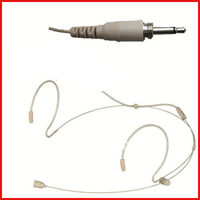 Pro Skin color Beige headset Earhook headset headworn microphone mic for wireless microphone bodypack