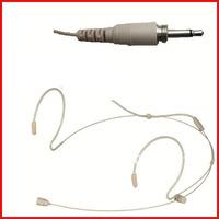 Pro Skin color Beige headset Earhook headset headworn microphone mic for wireless microphone bodypack