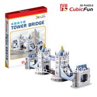 New Arrival:CubicFun three-dimensional 3D puzzle building model educational toys/children toys - S3010h mini London twin bridge