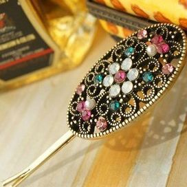 Min.order is $10 (mix order) 72I33 fashion Europe retro elliptic hair band  hair clip hair jewelry! cRYSTAL sHOP free shipping