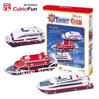 CubicFun three-dimensional 3D puzzle building model educational toys/children toys - C096h yacht club