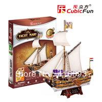 New Arrival:CubicFun three-dimensional 3D puzzle building model educational toys/children toys - T4010h Maria yacht