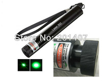 Focusable Laser pen 200mW 532nm Green Laser Pointer Flashlight Torch +3300Mhz battery +battery charger + Key Lock