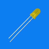 Free  shippng 1000pcs Light-emitting diode 5mm short foot yellow yellow highlighted