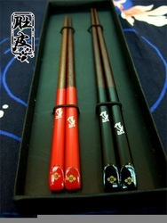 Freeshipping! Chinese Chopstick collection for Wedding Gift! Red Scandal Wood(China (Mainland))