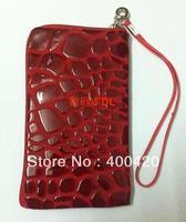 Mobile phone bag for apple iPhone 5/PU Mobile phone bag for iPhone 5/Zipper bag for iphone 5/free shipping/(20pcs/bag)