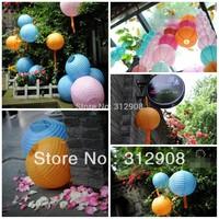 10pcs/lot) 8''(20cm)Free shipping! wedding lantern, round lantern, wedding decoration, hanging paper lantern