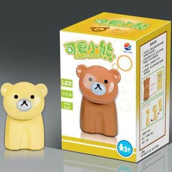 12 LED Teddy Bear rechargeable eye protection lamp color random