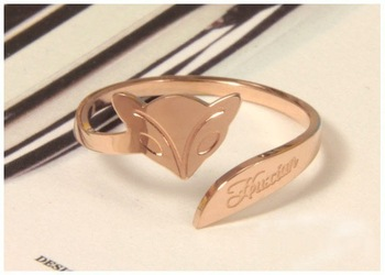 Free Shipping! 2013 Fashion 14K Rose Gold  Fox Tail Ring High Quality Fashion jewelry trendy rings for womens R12