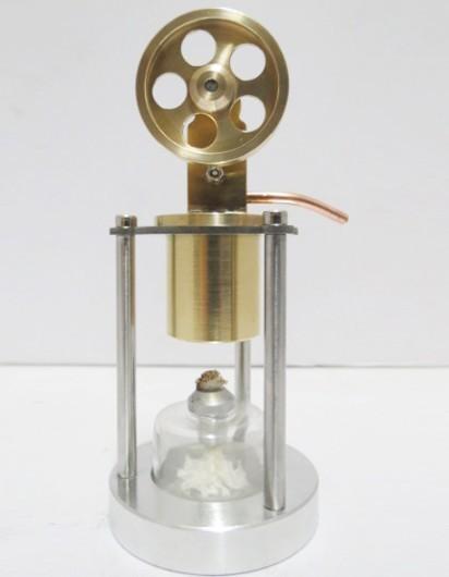 Stirling Engine All copper engine model - single cylinder vertical band boiler - creative gifts steam engine model(China (Mainland))