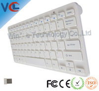 New 2.4G Optical Mini Wireless Slim Touch Keyboard White For PC Laptop, Free Shipping