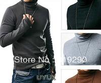 2013 Spring men's clothing long-sleeve turtleneck basic shirt slim sweaters
