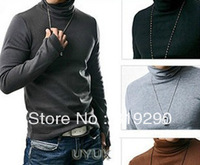2013 Spring men's clothing long-sleeve turtleneck basic shirt slim sweaters
