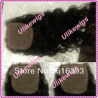 "Cheap Lace Closuer Peruvian Human Hair16"" #1b Curl Silk Top Lace Top Closure (4""x4"")"