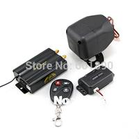 New Arrival Car GPS Tracker Vehicle GSM/GPRS Alarm Track Remote Control+Shock Sensor+Siren free shipping wholesale # 180074