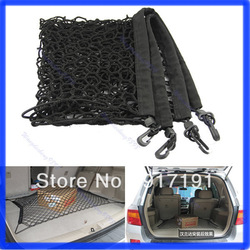 Free Shipping CAR Mesh Cargo Net Holder Trunk Auto Elastic Storage 4 Hook For 2012 Honda CRV CR-V(China (Mainland))