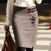 Winter short woolen bust skirt slim hip skirt medium female short skirt