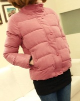 Wadded jacket.Cotton-padded coat.Short style.Upset.Cotton.Casual.Women's.Free shipping.1 Piece.Wholesale.2013 New