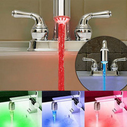 New 3 Color Sensor LED Linght Water Faucet Tap Temperature For kitchen/Bathroom, Free Shipping(China (Mainland))