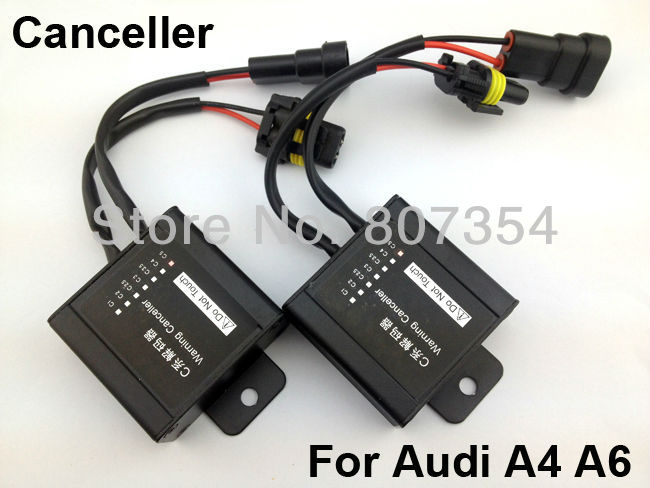 Free Shipping! For Audi A4/A6, New 2 Warning Error Decoder Canceller Capacitor ANTI-FLICKER For Xenon HID Car Light(China (Mainland))