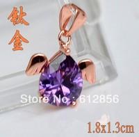 titanium alloy pendant for women, Titanium steel alloy pendant  with crystal