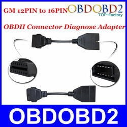 OBD/OBD2 Connector GM 12 PIN Adapter to 16Pin Diagnostic Cable ,GM 12Pin for GM Vehicle HKP Free(China (Mainland))