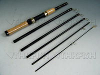 1X 2.1m 6 Section Portable Travel Fishing Rod Spinning Rods Carbon Fiber Fishing Pole