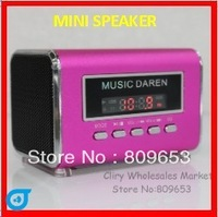 wholesales Portable Mini Mobile Speaker with USB/TF card reader FM radio MP3 Player sound box FREE SHIPPING