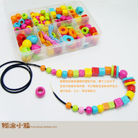 Yakuchinone large particles shape baby acrylic beads set child