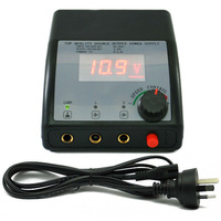 Black Casting LCD Digital Tattoo Power Supply Machine free shipping - wholesale