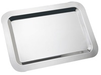 hostel use tray 2013 hot sell-20 inch stainless steel rectangle service plate good sell