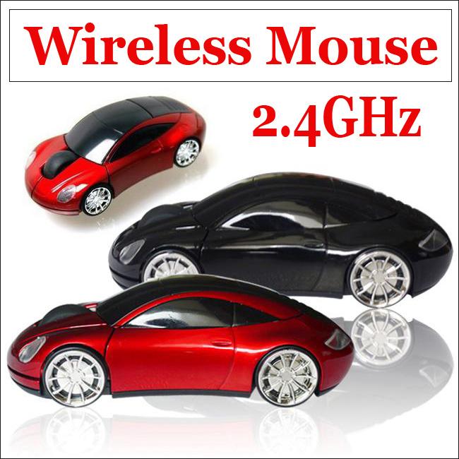 1 PC Good Quality USB Wireless Optical Mouse 2.4GHz Car/Auto Blue-ray Mice- PC Laptop MAC WIN7 XP NEW(China (Mainland))
