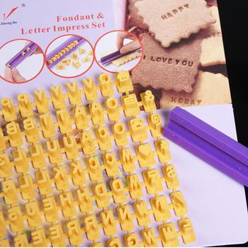 Letter and Number Impress DIY Mould Stamp Tools Biscuit Cake Fondant impress Decorating cake tools Free shipping cake decorating