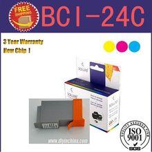 Promotion BCI-24 Color printer inks cartridge for Canon Smartbase MP200/MultiPASS F20/Pixma MP110/MP130/S200/S300/i250 8pcs/lot