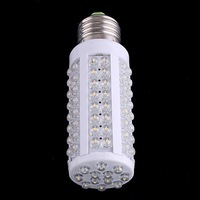 Free shipping by DHL  7W warm white/white led lighting AC 220-240V 108 LED E27 led bulb lamp Corn Light Bulb