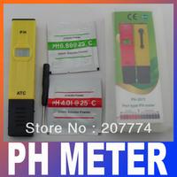 High Accuracy Handheld Digital Pen-type PH Meter Tester Thermometer Temperature degree C 0.00-14.00 pH range + Built-in ATC