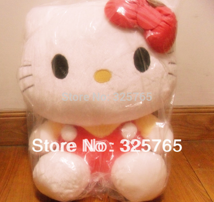 Hello Kitty Stuffed Doll 45cm Plush toy Free shipping Gift For YOU(China (Mainland))