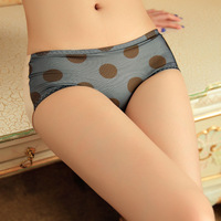 2013 new Dot design briefs comfortable trigonometric brief low-waist fladies' sweet underwear simple panties freeshipping 10pcs
