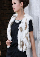 Genuine  Rabbit Fur vest,free shipping/retail /wholesale