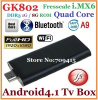 [in stock]GK802 Freescale i.MX6 Quad Core Android 4.0 Mini PC Cortex-A9 1GB/8GB Vivante GC2000 Quad Core GPU Quad IPU TV Dongle