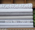100% cotton twill quilting fabric 7designs 45x45cm,grey 21pcs patchwork fabric fat quarter bundles wholesale and freeshipping