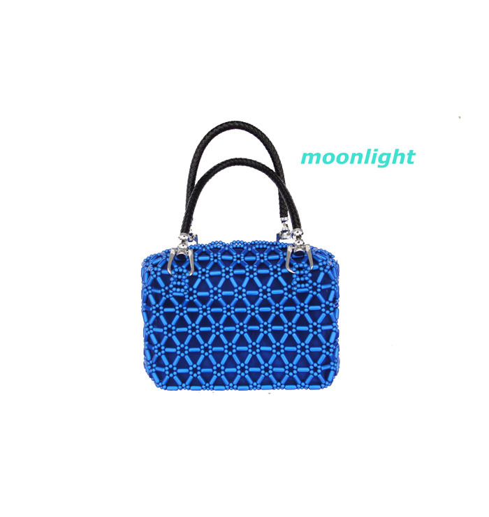 2013 handmade bead handbag Fashion Design Spell shoulder bag free shipping(China (Mainland))