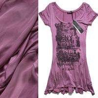 fashion  new B 2012 spring and summer dream chiffon fish tail skirt slim short-sleeve petals one-piece dress 3