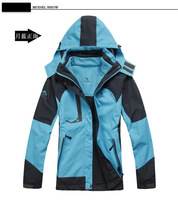 Free shipping High quality Women's Outdoor Ski jackets 3in1 Windproof Waterproof Skiing Jacket Climbing Jackets for lover8866B