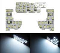 High quality White 54-SMD 3-piece Exact LED Panels Interior Light Package For FIT