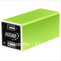 Many products to adapt to the portable mobile power capacity of 10400 mah green      durable