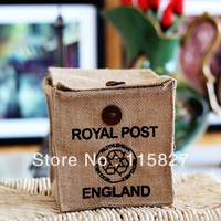 Min order$20(mixed item) England style storage case royal post linen storage bag CD CASE desk organizer