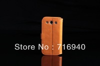 Wallet PU Leather Case For Samsung Galaxy S 3 III,Case for I9300 GALAXY S3 DHL Free Shipping